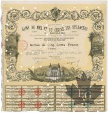 16 Avril 1938 - Action de cinq cents Francs