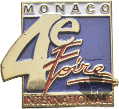 MONACO-PIN-4-EME-FOIRE-INTERNATIONALE