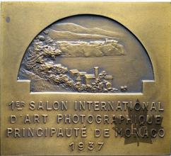 MEDAILLE-1937-1ER SALON INTERNATIONAL D'ART PHOTOGRAPHIQUE