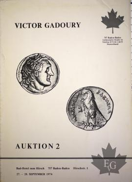 1974 CATALOGUE-VENTE AUX ENCHERES