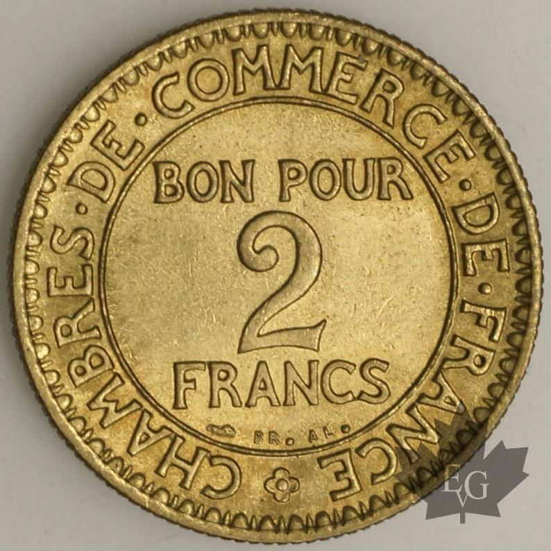 Monete france 1923 2 francs sup chambre de commerce fdc - Chambre de commerce francaise a l etranger ...