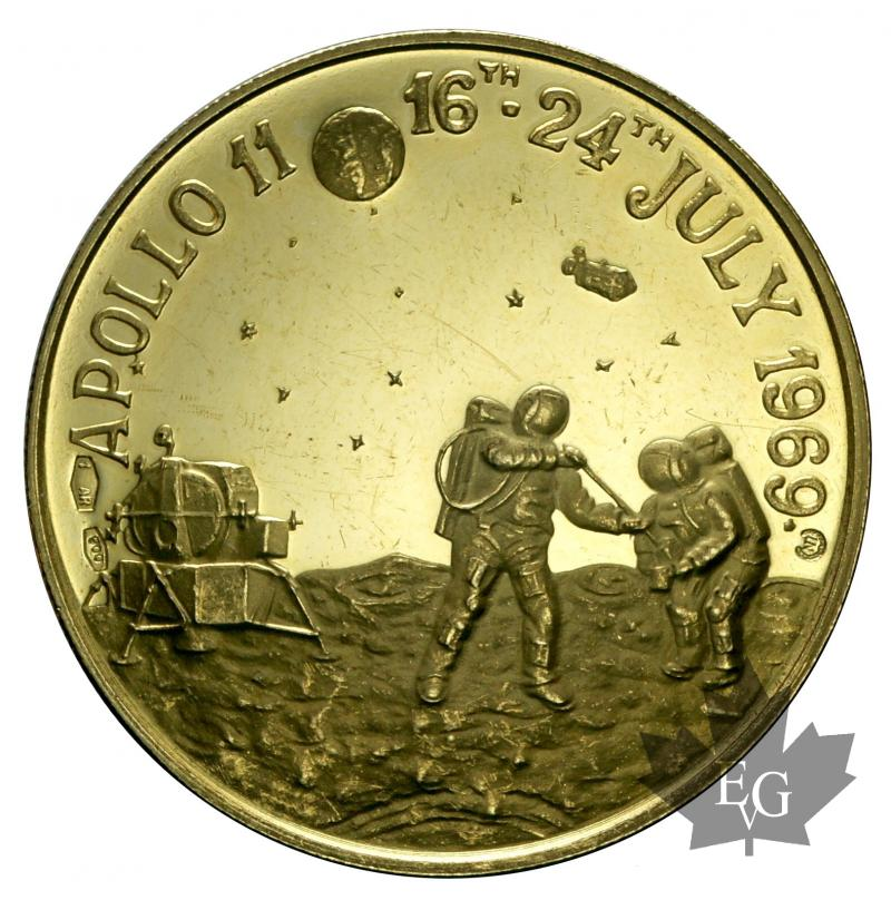 Coins - ETATS UNIS-1969-MÉDAILLE-APOLLO 11-PROOF