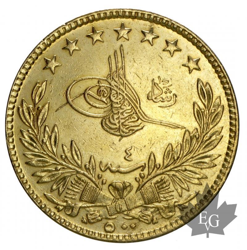 Coins Turquie 1912 Ah 1327 4 500 Kurush Prsup