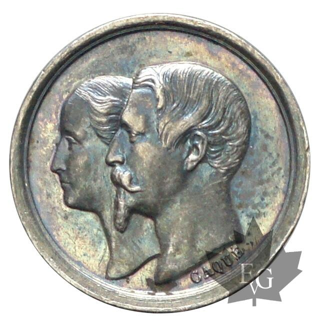 Coins - FRANCE-1856-MÉDAILLE-NAPOLEON III-PARIS-FDC