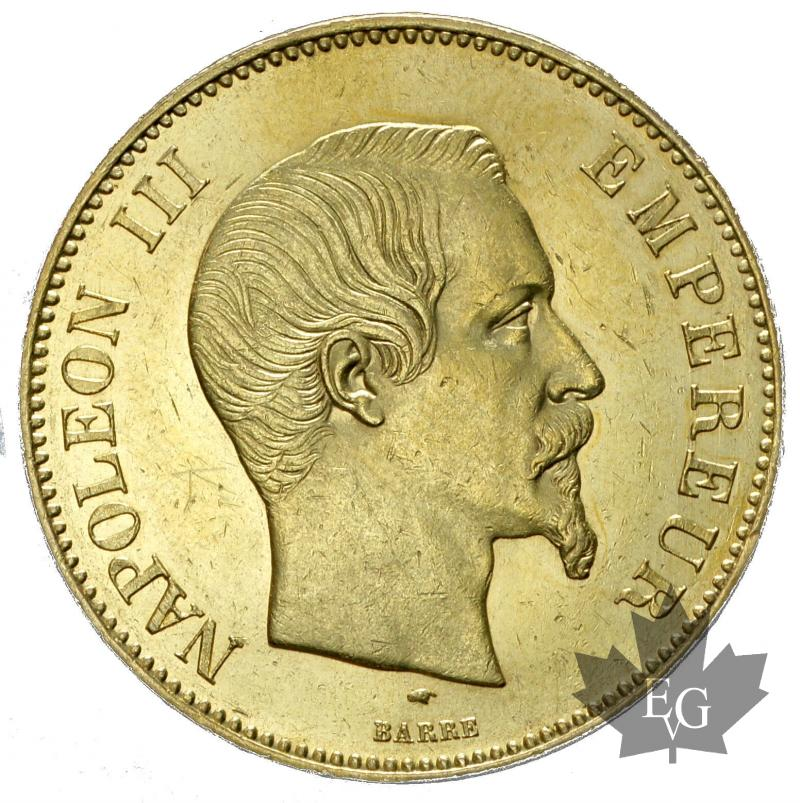 Coins - FRANCE-1856A-100 FRANCS-NAPOLEON III-SUP