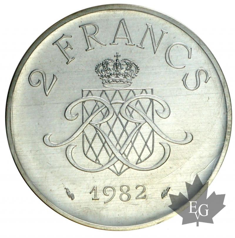 coins monaco 1982 2 francs. Black Bedroom Furniture Sets. Home Design Ideas