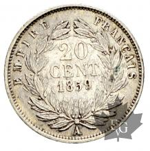 FRANCE-1859A-20 CENTIMES-pr SUP