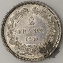 FRANCE-1831B-2 FRANCS SUP-FDC