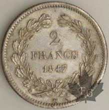 FRANCE-1847K-2 FRANCS SUP FDC