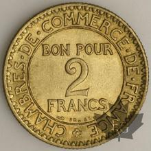 FRANCE-1923-2 FRANCS SUP-CHAMBRE DE COMMERCE-FDC
