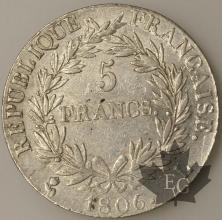 FRANCE-1806L-5 Francs Empereur TTB/SUP