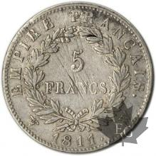 FRANCE-1811W-5 Francs tête laurée EMPIRE TTB