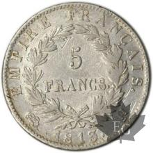 FRANCE-1813H-5 Francs tête laurée EMPIRE TTB