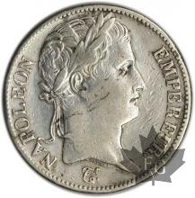 FRANCE-1813H-5 Francs tête laurée EMPIRE TBTTB