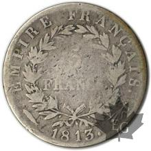 FRANCE-1813 Utrecht-5 Francs tête laurée EMPIRE TB