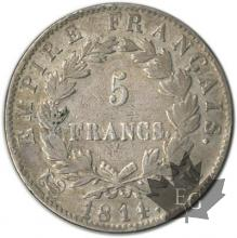 FRANCE-1814M-5 Francs tête laurée EMPIRE TBTTB