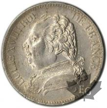 FRANCE-1815L-5 Francs Louis XVIII SUP
