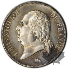FRANCE-1819B-5 Francs Louis XVIII Buste nu SUP