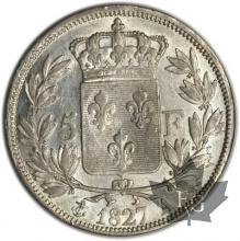 FRANCE-1827A-5 Francs Charles X SUP