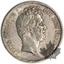 FRANCE-1830A-5 Francs Louis-Philippe  G. 676  TTBSUP