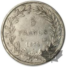 FRANCE-1831L-5 Francs Louis-Philippe  G. 676  TTB