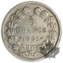 FRANCE-1831D-5 Francs Louis-Philippe  G. 677 pr. TTB