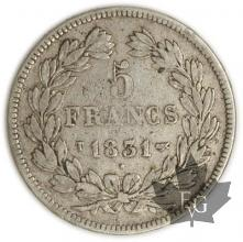 FRANCE-1831T-5 Francs Louis-Philippe  G. 677a  TTB
