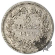 FRANCE-1832K-5 Francs Louis-Philippe  G. 678  TB-TTB