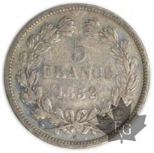 FRANCE-1832MA-5 Francs Louis-Philippe  G. 678  TB-TTB