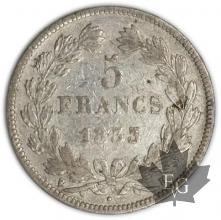 FRANCE-1833H-5 Francs Louis-Philippe  G. 678  TBTTB