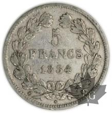 FRANCE-1834M-5 Francs Louis-Philippe  G. 678  TBTTB