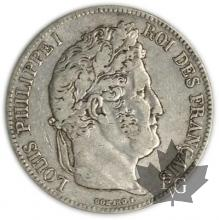 FRANCE-1835BB-5 Francs Louis-Philippe  G. 678  TBTTB
