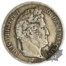 FRANCE-1835 I-5 Francs Louis-Philippe  G. 678  TTB