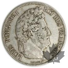 FRANCE-1836A-5 Francs Louis-Philippe  G. 678  TTB