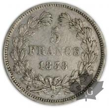 FRANCE-1838MA-5 Francs Louis-Philippe  G. 678  TTB+