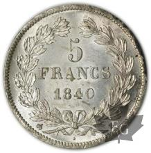 FRANCE-1840B-5 Francs Louis-Philippe-prFDC