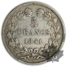FRANCE-1841K-5 Francs Louis-Philippe  G. 678  pr.  TTB