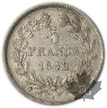 FRANCE-1842BB-5 Francs Louis-Philippe  G. 678   TTB