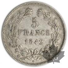 FRANCE-1842K-5 Francs Louis-Philippe  G. 678   TTB