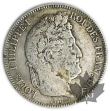 FRANCE-1843BB-5 Francs Louis-Philippe  G. 678   pr. TTB