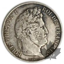 FRANCE-1845BB-5 Francs Louis-Philippe  G. 678   TB