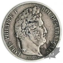 FRANCE-1847A-5 Francs Louis-Philippe  G. 678a var. TB TTB