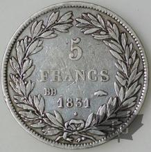 FRANCE-1831BB-5 Francs Louis-Philippe  G. 676  TBTTB