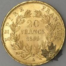 FRANCE-1855A-20 FRANCS  chien-main G. 1061  SUPFDC