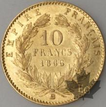 FRANCE-1866BB-10 FRANCS  grand BB G. 1015 SUP