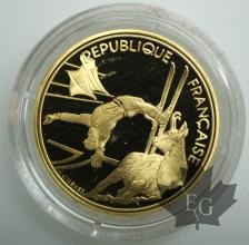 FRANCE-1990-500 FRANCS-Ski acrobatique