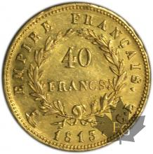 FRANCE-1813CL-40 FRANCS or-TTB+