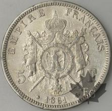 FRANCE-1861A-5 Francs 2e Empire G. 739 TTB+