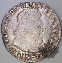 FRANCE-1637&-1/2 Franc G. 41-Louis XIII