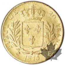 FRANCE-1815L-20 FRANCS Restauration